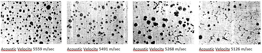 Confirming the nodularity in ductile iron casting by measuring ultrasonic sound velocity via an automated system