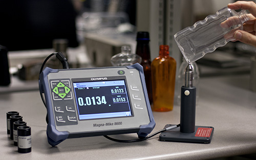 MagnaMike8600 unit bottle probe