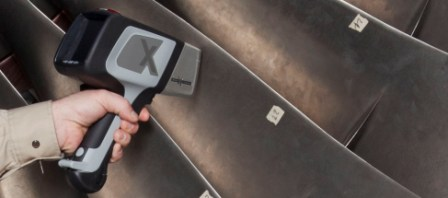 Olympus Innov-X DELTA handheld XRF lead paint analyzer for industrial lead paint analysis testing.